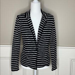 Caslon One-Button Striped Knit Blazer